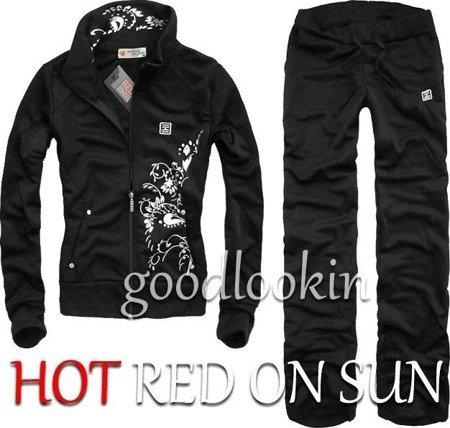 CZARNY DRES SPORTOWY HOT RED ON SUN (132)