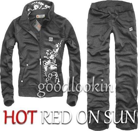 GRAFITOWY DRES SPORTOWY HOT RED ON SUN (132)