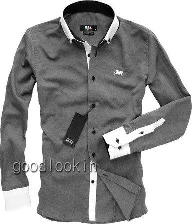 KOSZULA MĘSKA JEEL Jeans GRAFITOWA (3059)