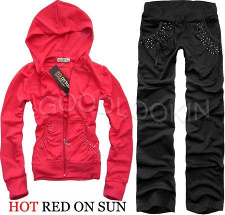 RÓŻOWY DRES HOT RED ON SUN (158)